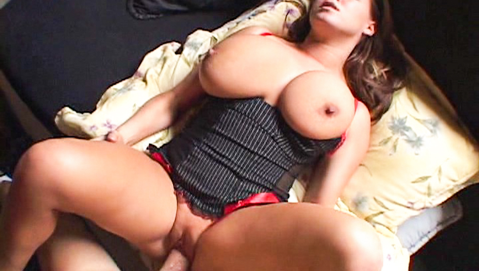 Beautiful, horny Brandy Talore plays with a monster cock.
