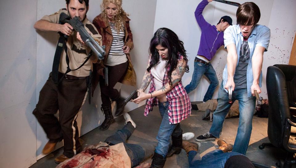 Joanna Angel & Tommy Pistol & Kleio Valentien - Walking Dead Orgy!