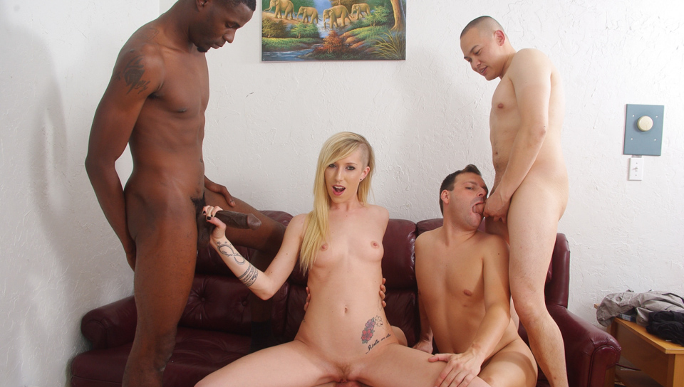 Wife makes husband join agangbang with his best friends