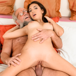 Latina babe Frida gets her pussy pounded by grandpa !