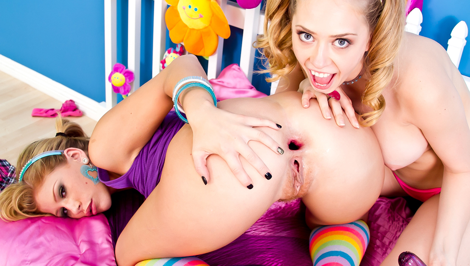 Kagney Linn Karter, Brooklyn Lee dvd porn video from Evil Angel