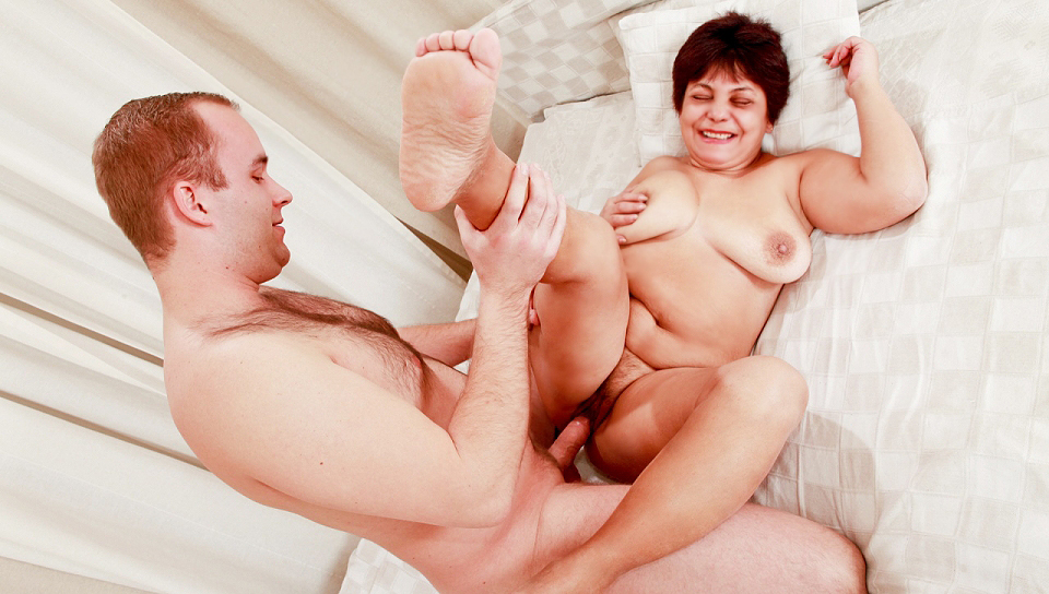 My Grand-Mother Caught On Cam, Crazy Over A Young Hard Dick!