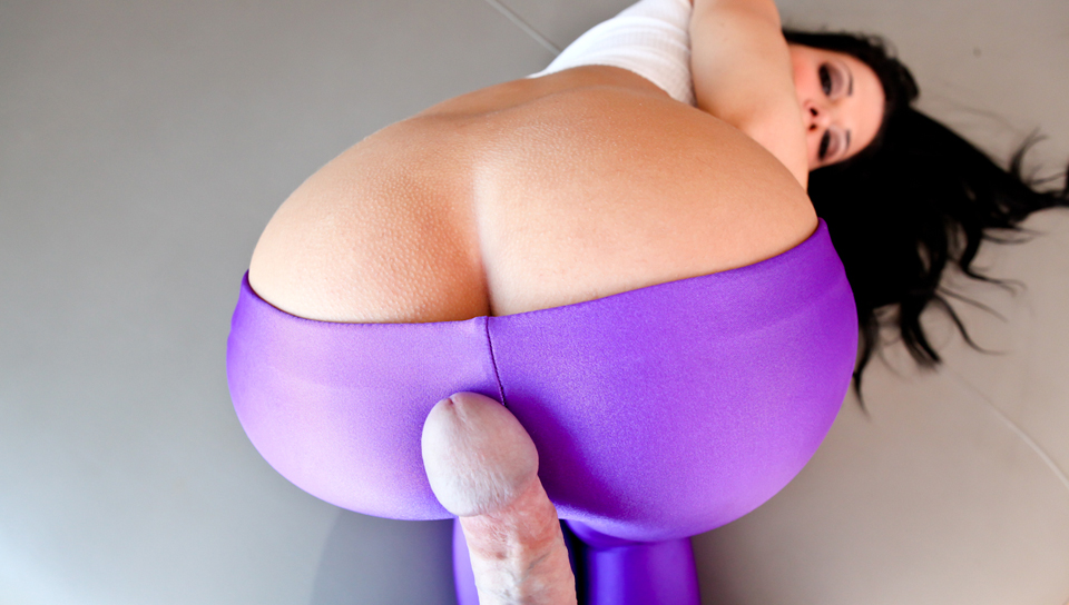 Sexy slut Rebecca Linares gets fucked in hot tight spandex!