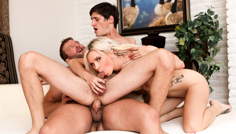 Hot bisexual threesome with Astrid Colby  Tony