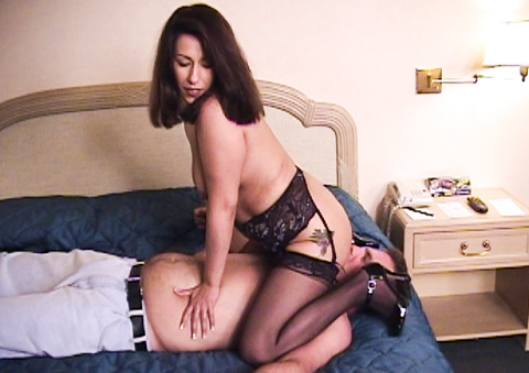Crazy wife punishes hubby for not fucking her like a man.
