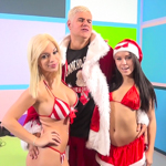 Sultry kittens Megan Rains & Bibi Noel tag team Porno Dan !