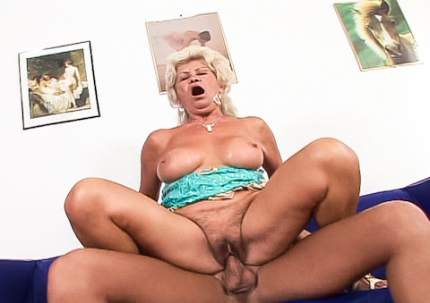 Hot and sexy grandma gets her tight pussy fucked once more!