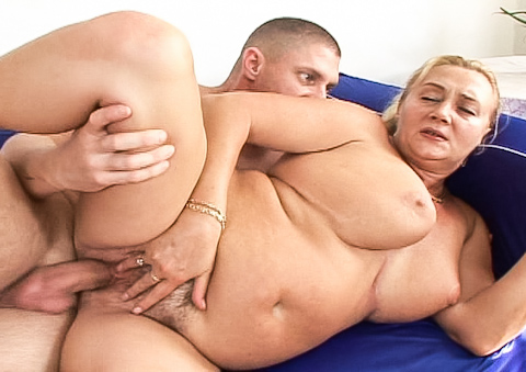 Sexy big breast grandma still enjoys his thick cock fuck!