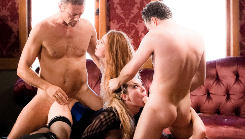 Roccos fantasy materializes in an anal orgy with hot babes