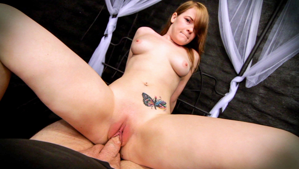 Sexy Ariel Stonem sucks and fucks an older man in POV style.
