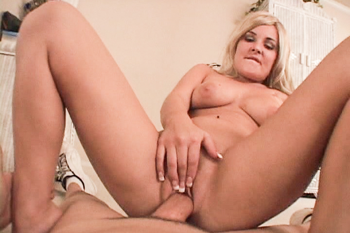 Sexy blonde swallows a giant cock and takes it deep in pussy