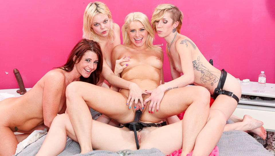 Anikka Albrite is having a big party with her hot chicks!