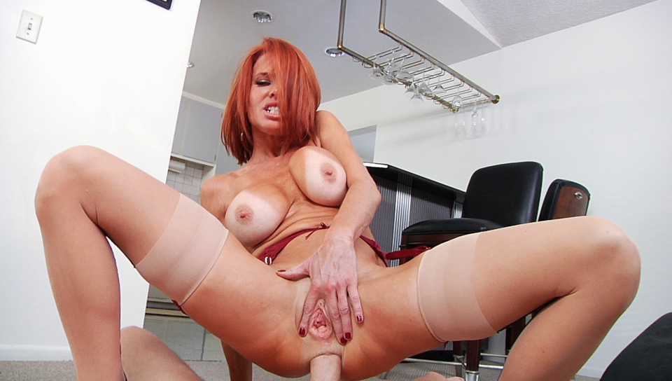 Redhead Veronica gets all her MILF holes fucked POV