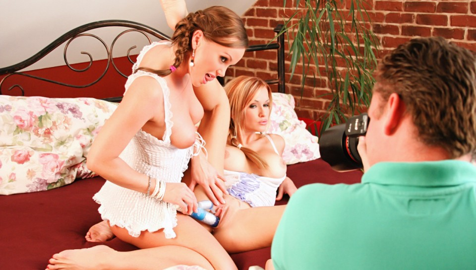 BTS With Silvia Saint & Her Friend Playing With Naughty Toy