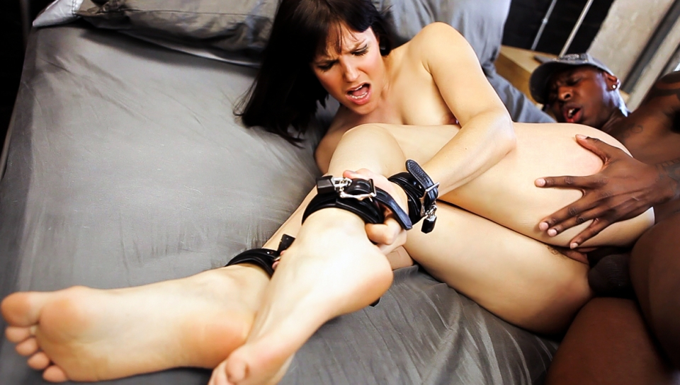 Hot Bobbi Starr, All Tied Up, To Fuck A Big Black Man's Cock