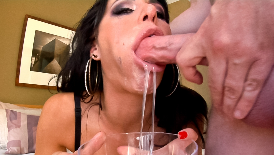 This sexy bitch loves having a cock in her mouth in this POV
