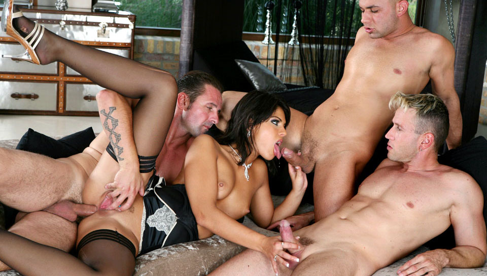 Dark group sex