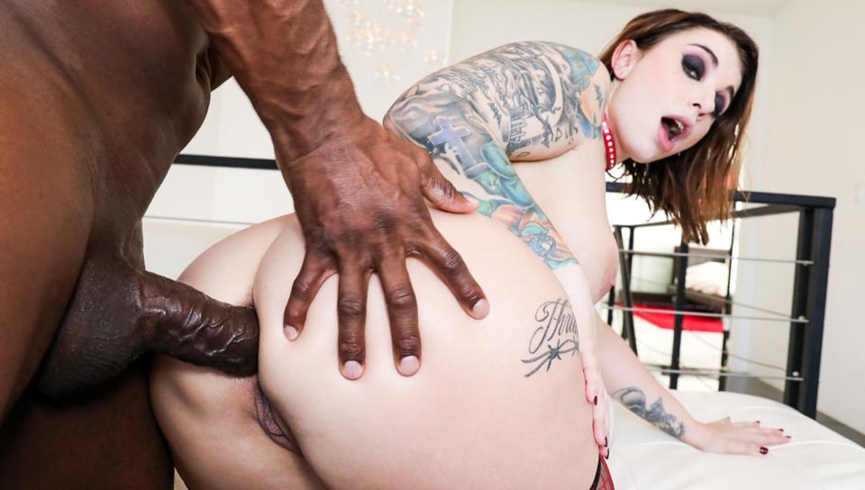 Curvy Ivy Lebelle: Interracial Anal! - סרטי סקס